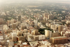 Harare from the Air by Martin Addison